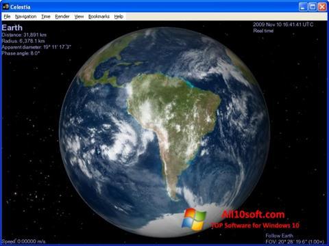 Ekran görüntüsü Celestia Windows 10