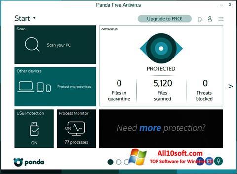 Ekran görüntüsü Panda Windows 10