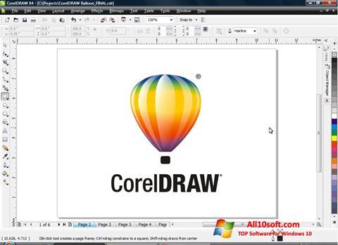 Ekran görüntüsü CorelDRAW Windows 10