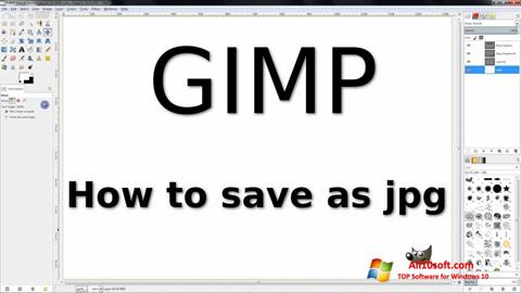 Ekran görüntüsü GIMP Windows 10