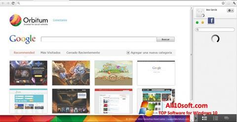 Ekran görüntüsü Orbitum Windows 10
