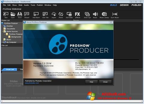 Ekran görüntüsü ProShow Producer Windows 10