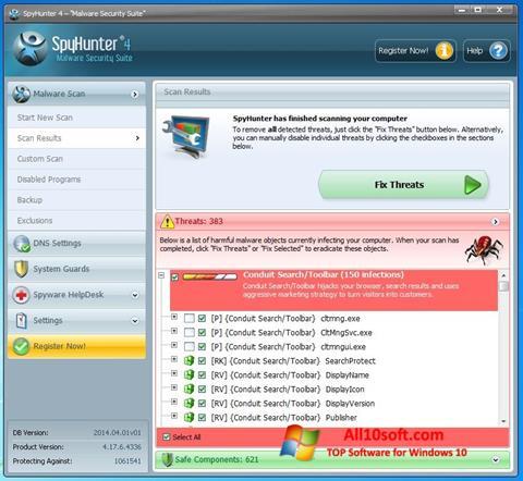 Ekran görüntüsü SpyHunter Windows 10