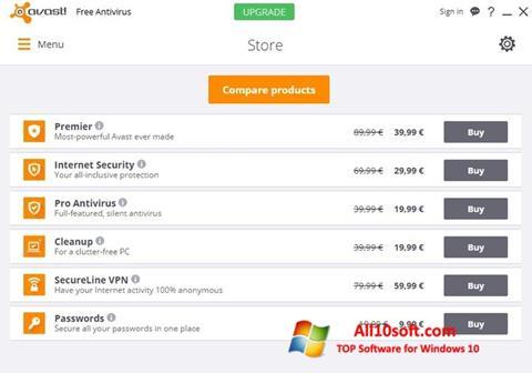 Ekran görüntüsü Avast Free Antivirus Windows 10