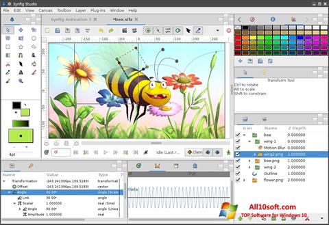 Ekran görüntüsü Synfig Studio Windows 10