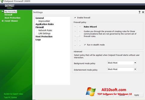 Ekran görüntüsü Outpost Firewall Free Windows 10