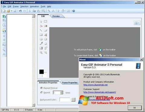 Ekran görüntüsü Easy GIF Animator Windows 10