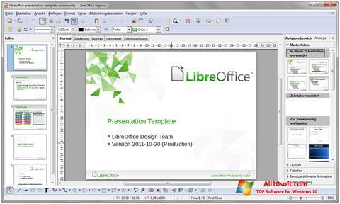 Ekran görüntüsü LibreOffice Windows 10