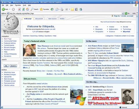 Ekran görüntüsü Internet Explorer Windows 10