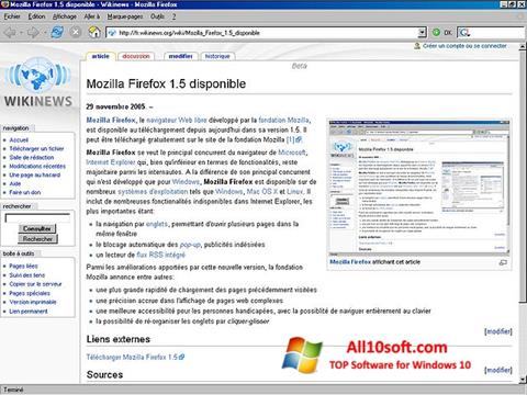 Ekran görüntüsü Mozilla Firefox Windows 10