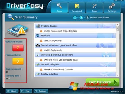Ekran görüntüsü Driver Easy Windows 10
