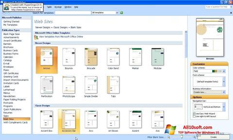 Ekran görüntüsü Microsoft Publisher Windows 10