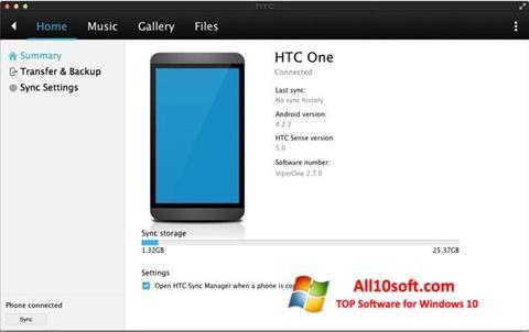 Ekran görüntüsü HTC Sync Windows 10