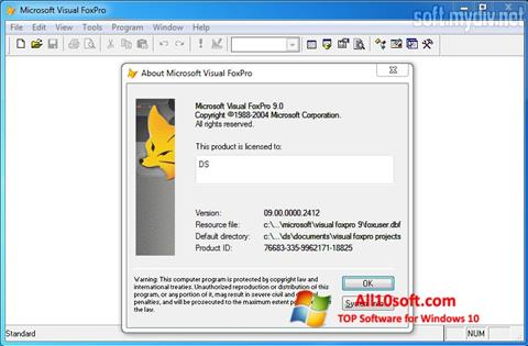 Ekran görüntüsü Microsoft Visual FoxPro Windows 10