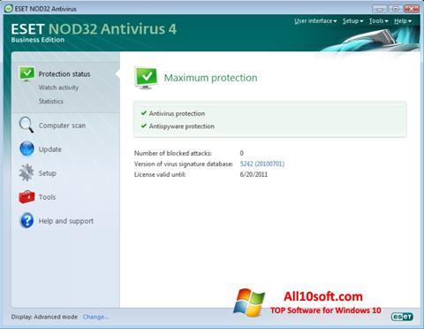 Ekran görüntüsü ESET NOD32 Windows 10