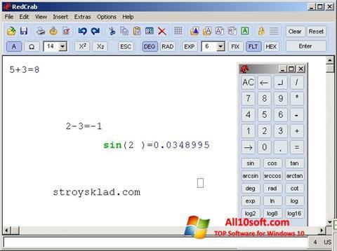 Ekran görüntüsü RedCrab Calculator Windows 10