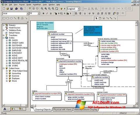 Ekran görüntüsü ERWin Windows 10