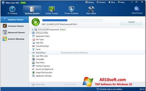 Ekran görüntüsü Wise Care 365 Windows 10