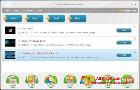 Ekran görüntüsü Freemake Video Converter Windows 10