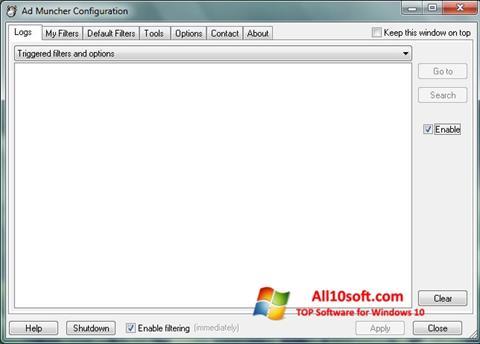 Ekran görüntüsü Ad Muncher Windows 10