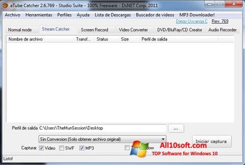 Ekran görüntüsü aTube Catcher Windows 10