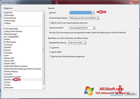 Ekran görüntüsü Adobe Reader Windows 10