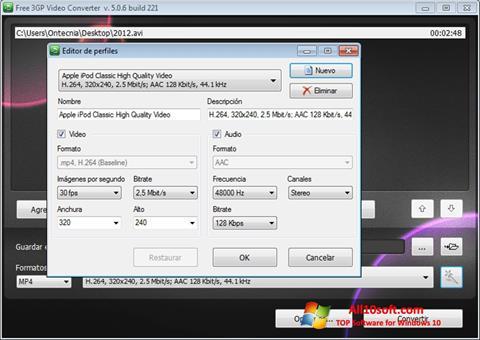 Ekran görüntüsü Free MP4 Video Converter Windows 10