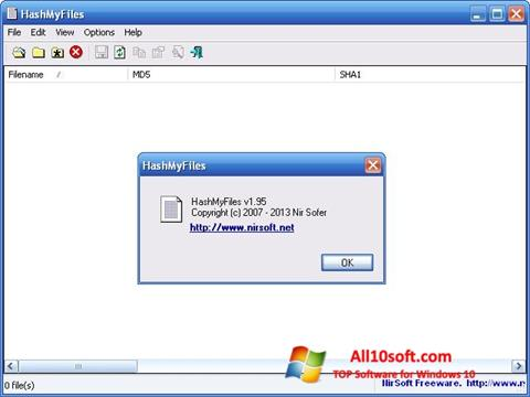 Ekran görüntüsü HashMyFiles Windows 10